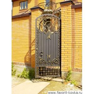 Кованые калитки и двери14
