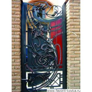 Кованые калитки и двери15