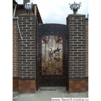Кованые калитки и двери21