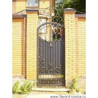 Кованые калитки и двери22