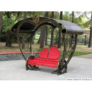 Кованые скамейки15