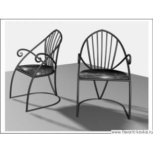 Кованые стулья и пуфики1