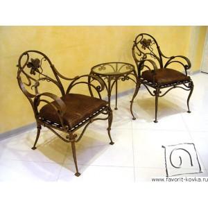 Кованые стулья и пуфики6