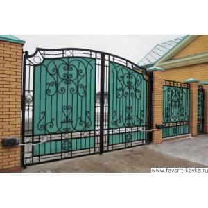 Кованые ворота1