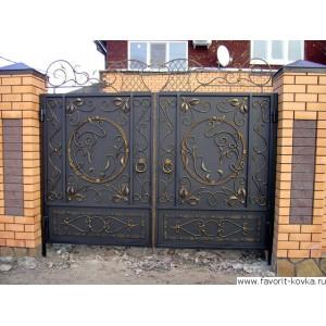 Кованые ворота3
