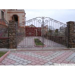 Кованые ворота4