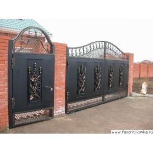 Кованые ворота5