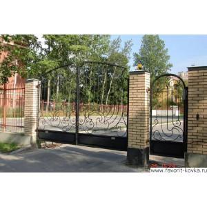 Кованые ворота8