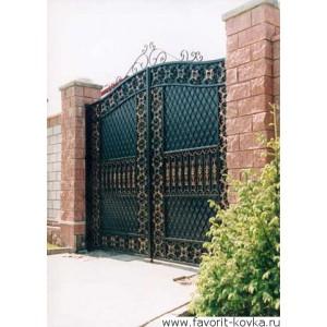 Кованые ворота12