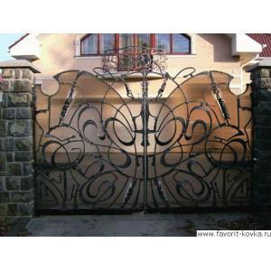 Кованые ворота13
