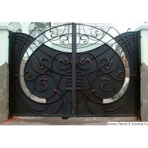Кованые ворота19