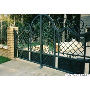 Кованые ворота23