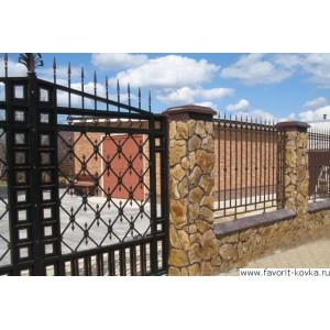 Кованые ворота29