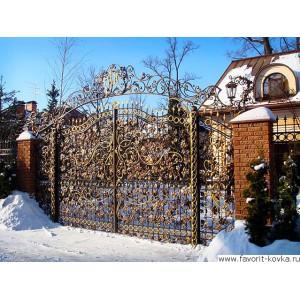 Кованые ворота30