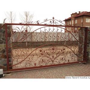 Кованые ворота31