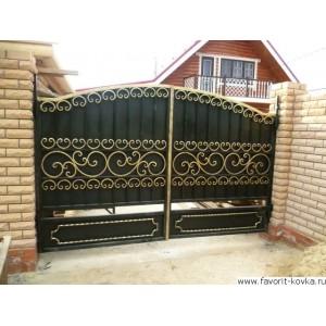 Кованые ворота33