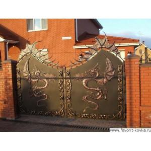 Кованые ворота35