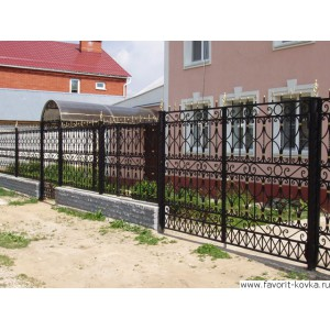 Кованые ворота36