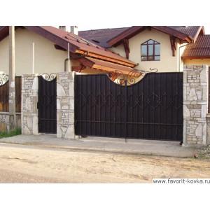 Кованые ворота37