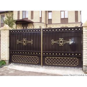 Кованые ворота38