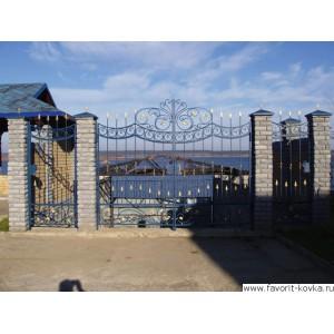 Кованые ворота39