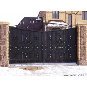 Кованые ворота41
