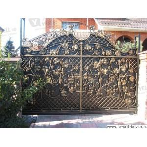 Кованые ворота42