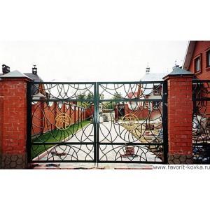 Кованые ворота44