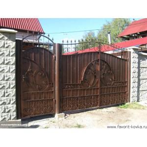 Кованые ворота46