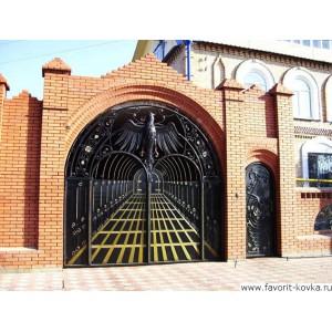 Кованые ворота48