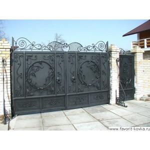Кованые ворота49