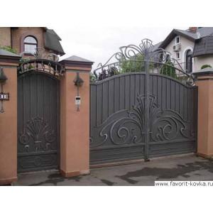 Кованые ворота51