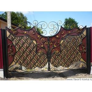 Кованые ворота52