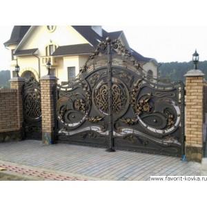 Кованые ворота53