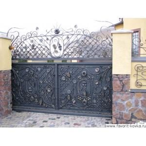Кованые ворота55