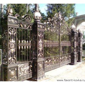 Кованые ворота56