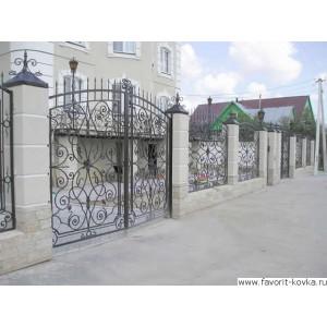 Кованые ворота59