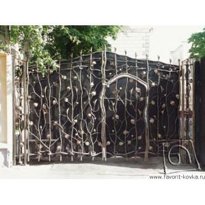 Кованые ворота60