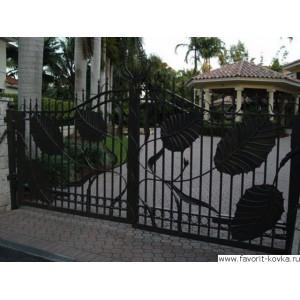 Кованые ворота65