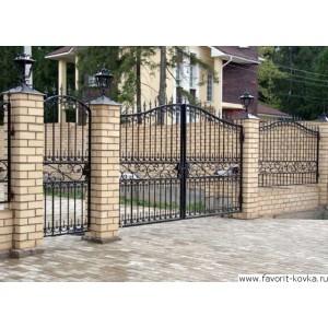 Кованые ворота71