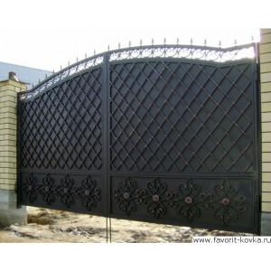 Кованые ворота73