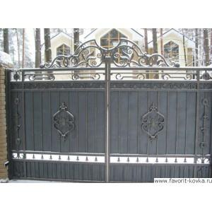 Кованые ворота74