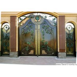 Кованые ворота75