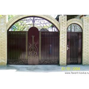 Кованые ворота77