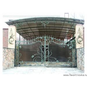 Кованые ворота79