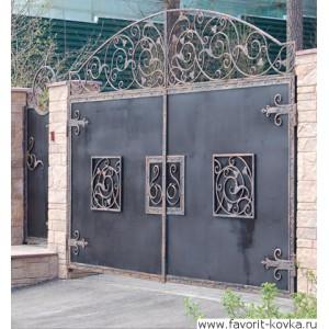 Кованые ворота81