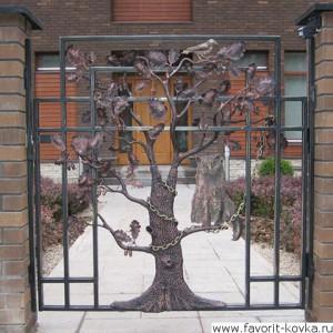 Кованые ворота82