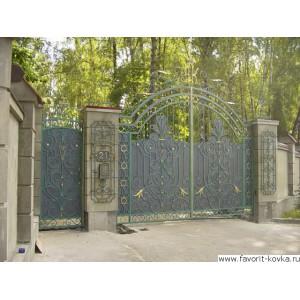Кованые ворота83
