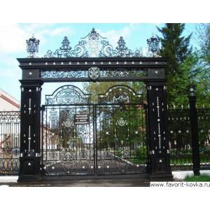 Кованые ворота84