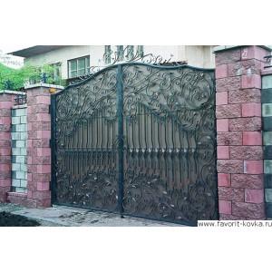 Кованые ворота85